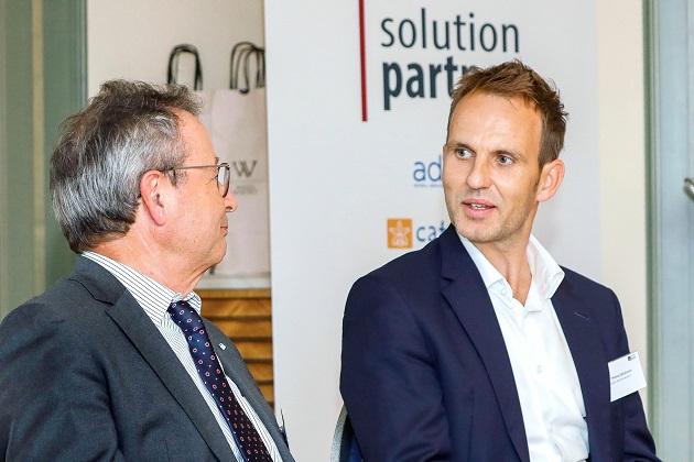 Dr. Thomas Glückstein (rechts) im Panel der Forum Media Conference | Entertainment Law mit Prof. Dr. Klaus Schaefer (links) | © Forum Media GmbH | Kurt Krieger